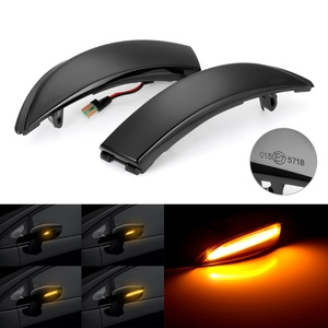 Image 1 - 2 Pieces Dynamic Blinker LED Turn Signal Lights Side Mirror indicator For Ford Fiesta Mk7 2008 2017 For Ford B Max 2012 2017