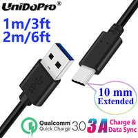 Adaptador USB, USB tipo C punta larga 10mm Cable Cargador rápido para Doogee S86... S88 Plus S96 Pro S59 Pro S58 Pro S90C N100 S68 S90 S95 Pro