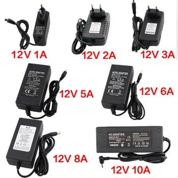 цена на 12V Power Supply 1A 2A 3A 5A 6A 8A 10A Universal AC DC Power Supply 110V 220V to 12V AC DC Adapter For LED Strip Lamp