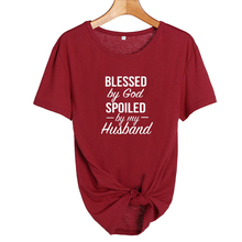 Christian T Shirt Blessed By God, Spoiled By My Husband