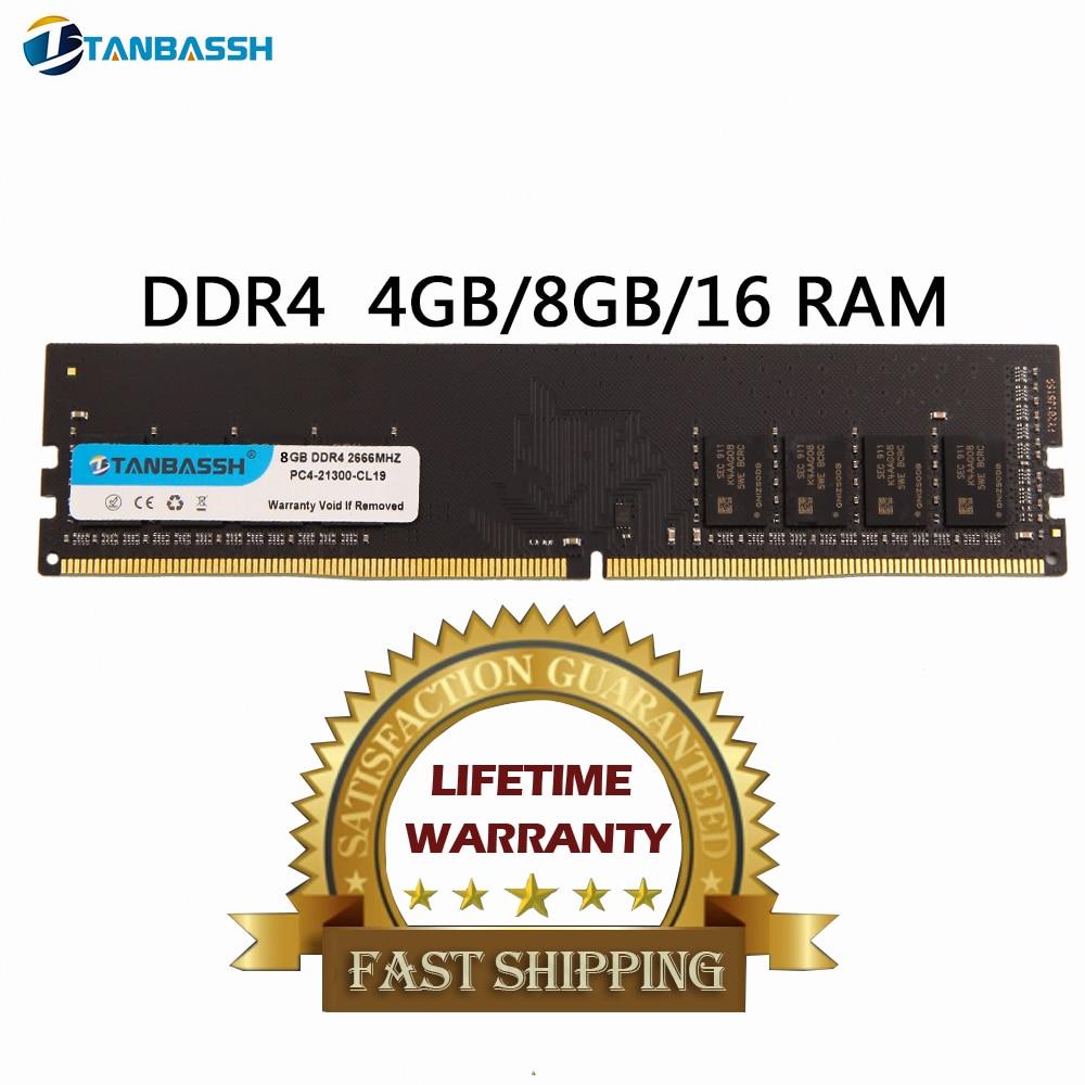 Top SaleTANBASSH Memory Support Ram-2400mhz Ddr4 4gb Desktop 16gb 2666mhz DIMM 8GB PC