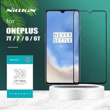 Oneplus 7T 7 6 6T 유리 Nillkin XD CP + Pro 풀 커버 강화 유리 스크린 보호대 Oneplus 7T 6T 7 6 Nilkin 3D Glass
