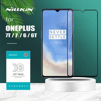 for Oneplus 7T 7 6 6T Glass Nillkin XD CP+ Pro Full Cover Tempered Glass Screen Protector for Oneplus 7T 6T 7 6 Nilkin 3D Glass