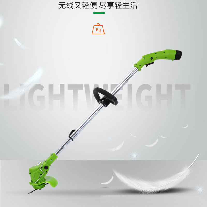 Tools : Electric Trimmer Lithium Battery Garden Power Tools Portable Cordless Grass Trimmer Lawn Cutter Mower Grass Cutting Machine