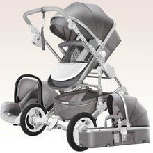 Высокая Пейзаж роскошный младенец 3 в 1 детская коляска корзина