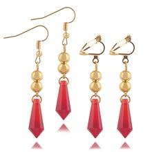 RJ Genshin Impact Tartaglia Earrings Cartoon Figure Cosplay Genshin Childe Earring Fashion Jewelry Accessories Gift