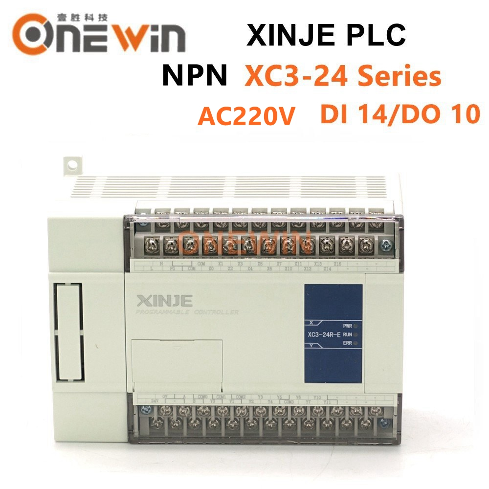 XINJE XC3 Series XINJE XC3-24R/T/RT-E PLC CONTROLLER MODULE AC220V DI 14 DO 10 Transistor New In Box