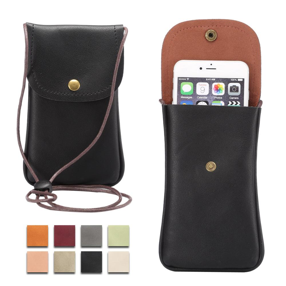 For <font><b>Samsung</b></font> J2 Prime <font><b>Leather</b></font> Shoulder Pocket Neck Strap Bags Pouch <font><b>Case</b></font> For <font><b>Samsung</b></font> Galaxy <font><b>S5</b></font> S6 S7 edge S8 S9 Plus S10 Lite image