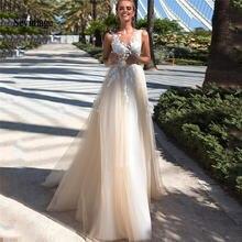 Дешевое ТРАПЕЦИЕВИДНОЕ кружевное свадебное платье sevintage