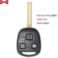 Keyecu para lexus ls430 2001-2006 sc430 2002-2010 carro remoto chave fob hyq12bbk 4d68 chip 39mm lâmina