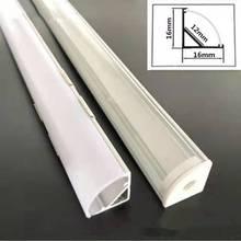 2-30шт% 2Flot 0,5м% 2Fшт 45 градус угол алюминий профиль для 5050 3528 5630 LED полосы молочный белый% 2Fпрозрачный крышка полоса канал