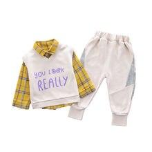 Новинка весенне осенняя одежда для малышей костюм детская рубашка