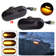 2pcs Dynamic LED Fender Light Side Marker For Renault Megane 1 Clio1 2 KANGOO ESPACE Dacia Duster Dokker Lodgy Smart Fortwo 453