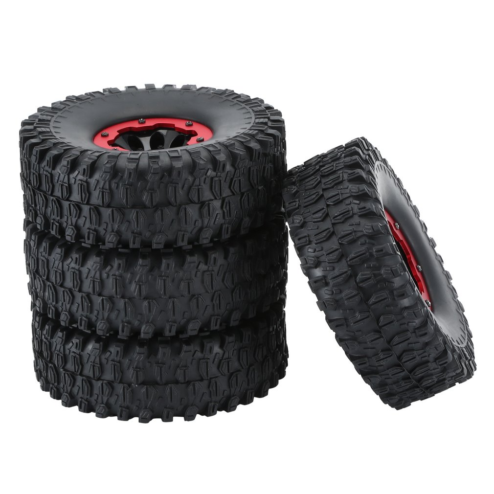 4PCS 1.9 Inch Rubber Tires Pneumatic Tire 120/4 Gravel Shield Tread Car Set for RC Rock Crawler Remote Control Car Tyres