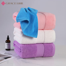 Pure cotton thickened chest wrap, enlarged thickened dry wrap, plain strong absorbent super soft skin-friendly adult bath towel