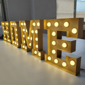 Popular vintage outdoor for retail marquee letter led lights SUS channel letters cinema  warm lighted