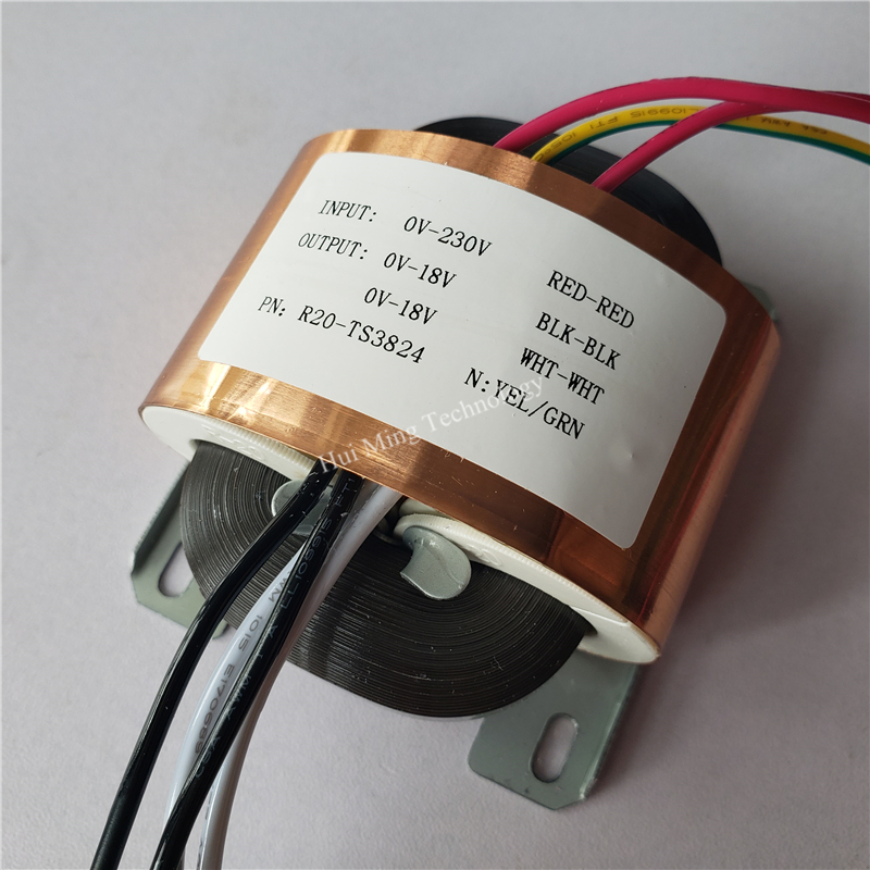 18V-0-18V 0.8A 2*18V Transformer R Core R20 custom transformer 220V/230V 30VA copper shield DAC pre-amplifier HIFI decoder