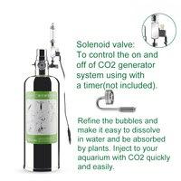 Aquarium CO2 Kit with CO2 Atomizer Solenoid Valve DIY CO2 Generator System Kit Carbon Dioxide for Aquarium Fish Tank Diffuser