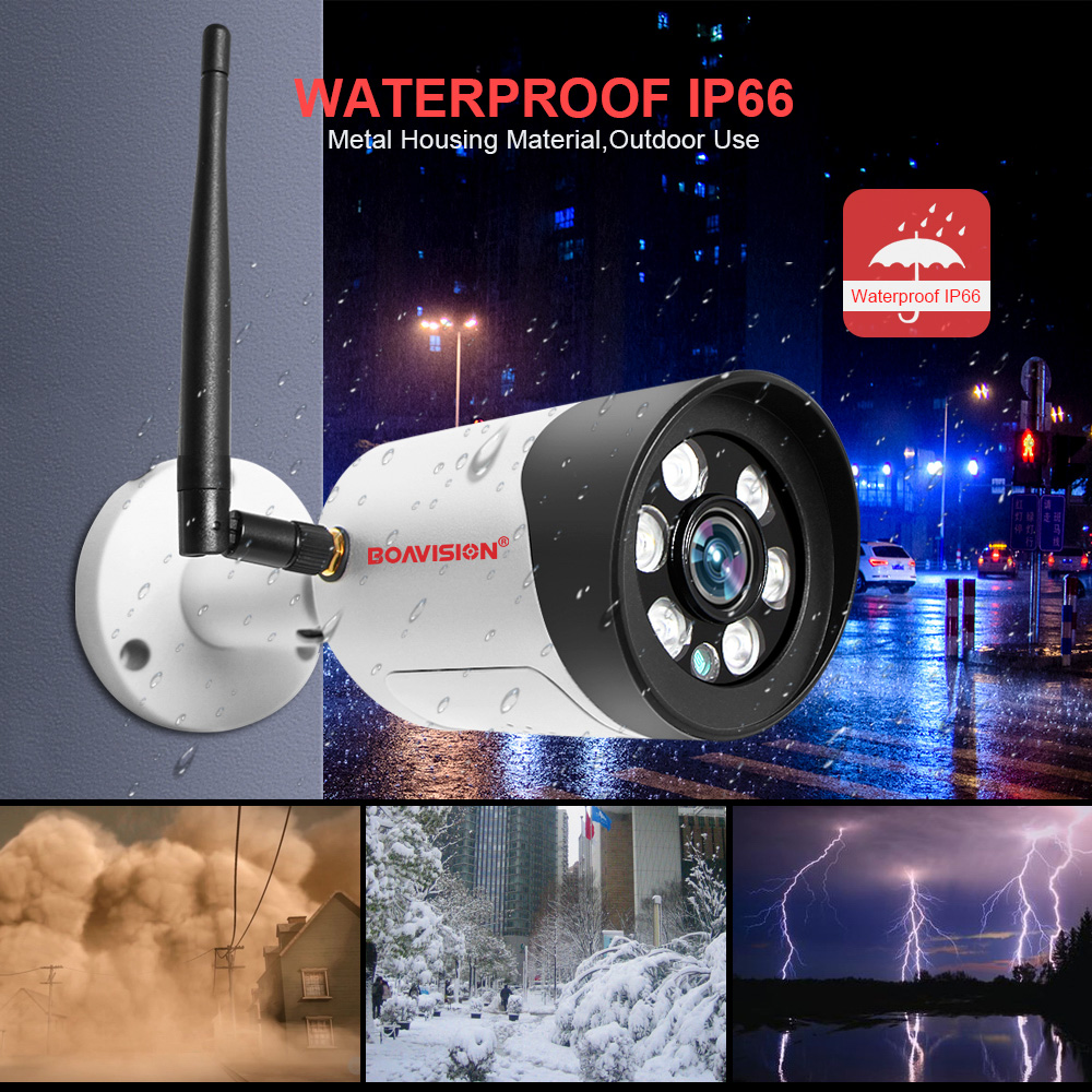 5MP Wifi IP Camera 1080P Security Wireless Camera Outdoor Full Color Night Vision 2-Way Audio Bullet Floodlight Camera ONVIF