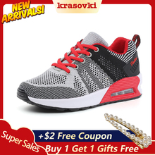 Krasovki Platform Sneakers Women Casual Shoes Spring Autumn Breathable Comfortable For Walking Female Fashion