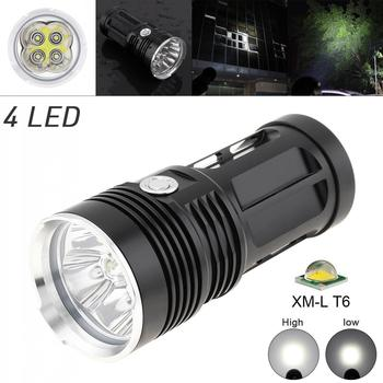 LED Flashlight 1200LM 4 x XML T6 LED Waterproof Outdoor 3 Mode Flashlight Torch Lamp White Light Color for Hunting Camping tangspower 1200lm cree xml u2 5 leds 3 modes white light aluminum led flashlight
