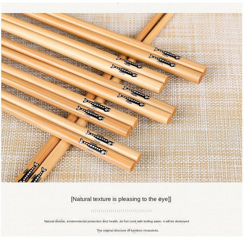 20 парт/компл толстых рыбок и тонких многоразовые бамбуковые
