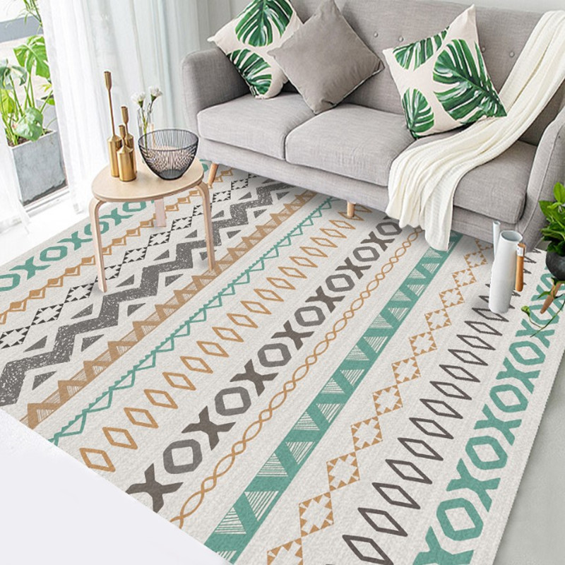 Home Decor Moroccan Carpets For Living Room Classic Nordic Style Bedroom National Style Coffee Table Floor Mat Room Area Rug
