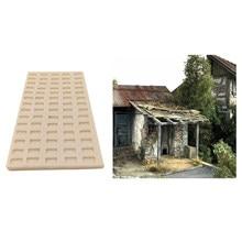 1/35 escala de tijolo em miniatura que faz o molde areia mesa cena diy acessórios, crianças brinquedos criativos