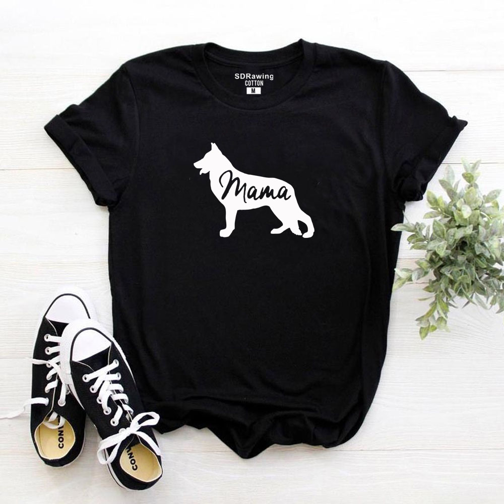 German Shepherd Shirt Gift For Dog Lovers T Shirt Pet Lover Gift Dog Mom Shirt Animal Lover Dog Owner Mama Tops Ladies Tees