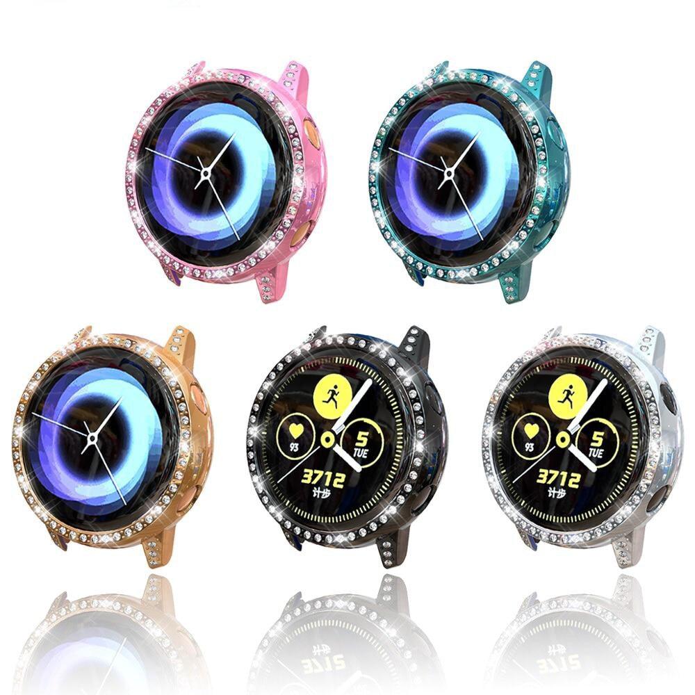 Блестящий чехол для samsung galaxy watch Active cover Diamond TUP Защитная пленка для экрана бампер Защита от падения, аксессуары