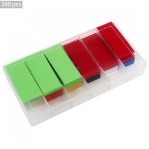280 шт./лот цветные термоусадочные трубки из ПВХ разных цветов для литий-ионных аккумуляторов 18650 18500