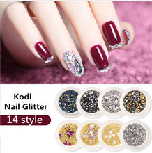 KZS008 14 style Nail Art Decorations rivet Crystal Rhinestones Hollow Star Moon Shape Nails Studs Rivet Beads Nail Accessorie(China)