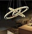 Современные хрустальные люстры освещение овальное кольцо хрустальные лампы подвесная люстра для светильников приспособление для столово...