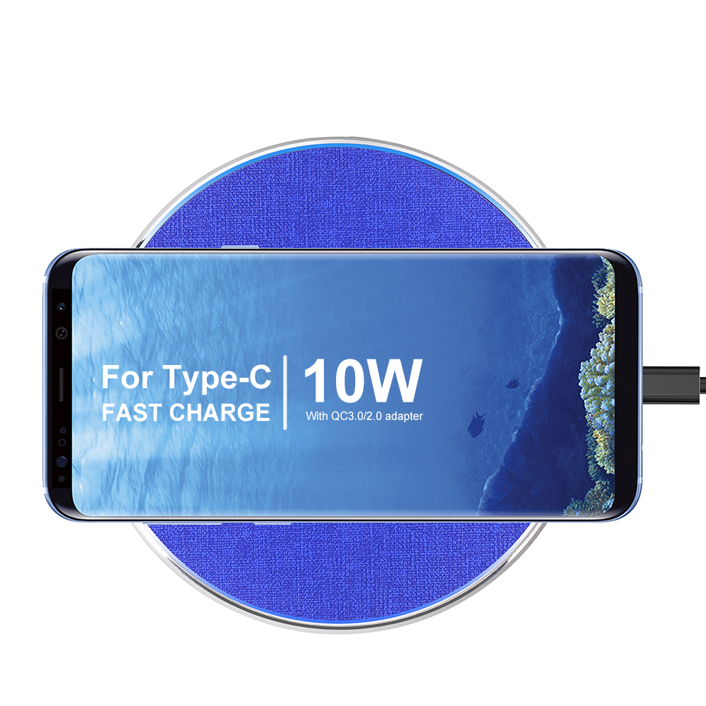 HEYPOD Wireless Charger For iPhone 11 X XR 8 plus 10W QC Fast Wireless Charging For Samsung S9 S10 S8 Note 7 8 9 USB Charger Pad 6