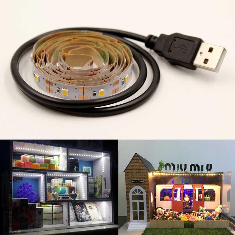 Flexibele Led Tape Usb Tv Achtergrond Licht Strip 5V 2835 Rgb 0.5M 1M 2M 3M 5M Warm Wit Decoratieve Verlichting