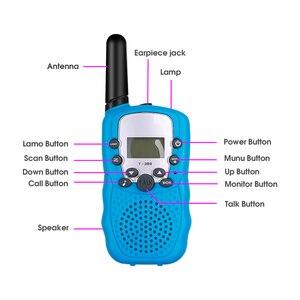 Image 3 - Nouveau 2 pièces Mini talkie walkie enfants Radio Station T388 0.5W PMR PMR446 FRS UHF Portable Radio communicateur cadeau pour enfant