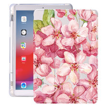 Plant Flower With Pencil Holder For iPad AIR 3 10.5 Pro 11 2020 Air 4 10.9 2018 9.7 6th 7th 8th Generation Case 10.2 2019 Mini 5
