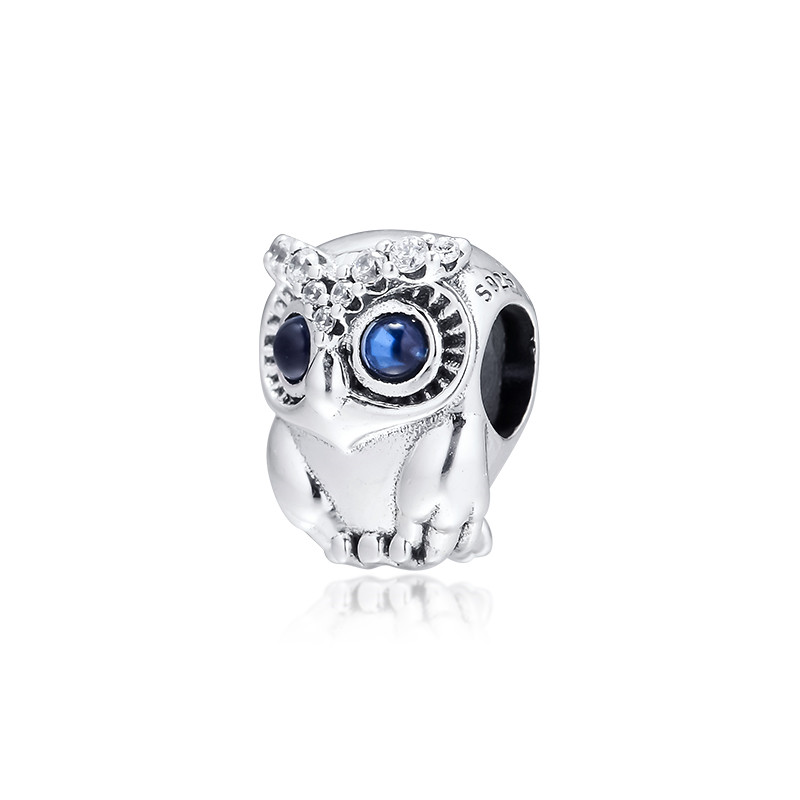 Image 4 - Sparkling Owl Big Eyes Crystal Beads for Charms Bracelets 2019 Autumn 925 Sterling Silver Jewelry Charm Beads for Jewelry MakingBeads   -