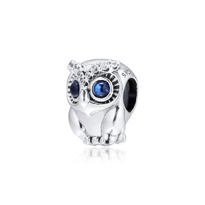 Image 4 - Sparkling Owl Big Eyes Crystal Beads for Charms Bracelets 2019 Autumn 925 Sterling Silver Jewelry Charm Beads for Jewelry Making