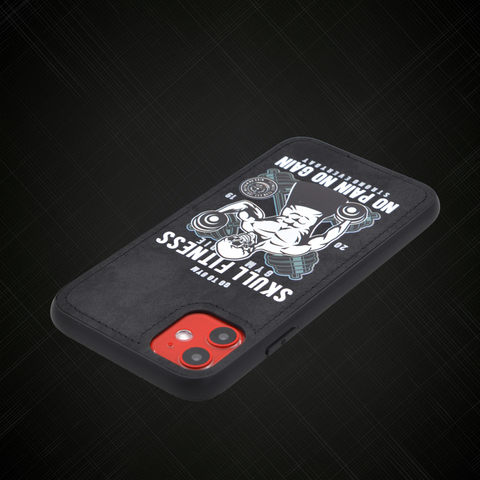 Original design Skull fitness Fabric phone Case For iPhone 11 Pro XS XR MAX 7 8 6 Plus Soft cloth Hard Back cover Magnetic case Islamabad