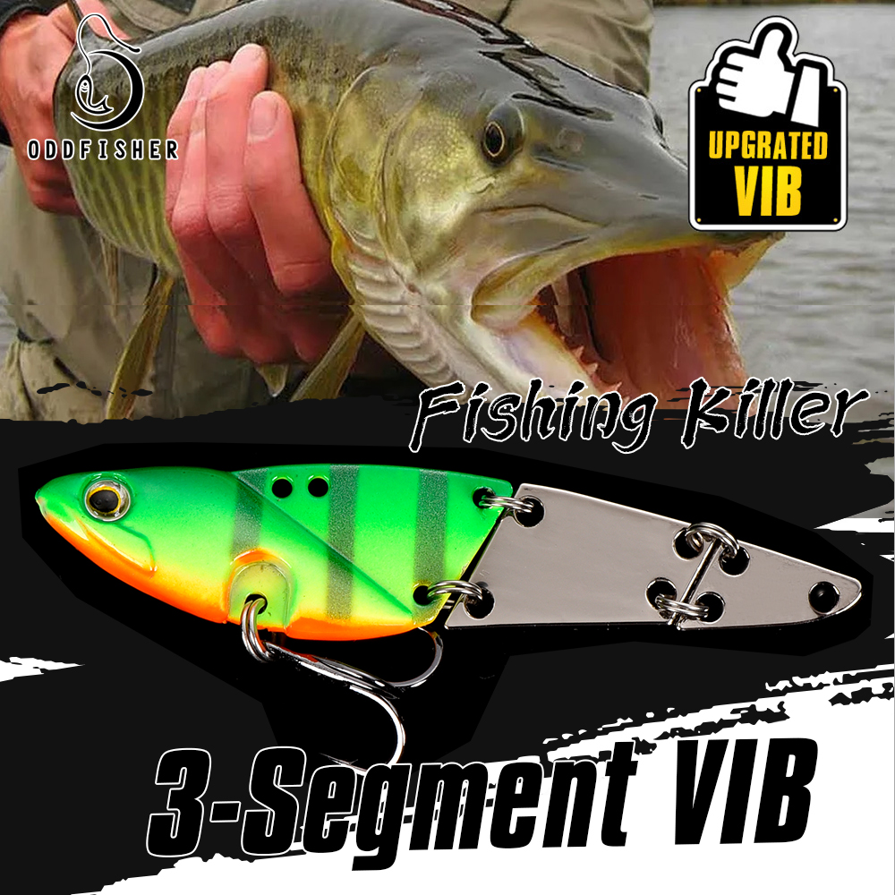 3 Segment Multi Jointed Bait VIB Fishing Lures For Spoon Spinner Crankbait Jigging Bass Pike Trout Metal Swimbait Hard Tackle(China)