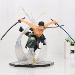 Image 5 - アニメワンピースフィギュアロロノア · ゾロアクションフィギュアバトルバージョンrengokuおにぎりゾロpvcモデル人形13 26センチメートルおもちゃ