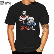 Undertale T-Shirts Men Sans And Papyrus Short Sleeve Novelty Tee Shirt Round Neck Pure Cotton Tops Party T Shirts