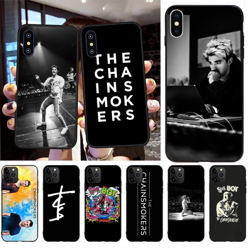 PENGHUWAN The Chainsmokers Coque Shell Phone Case for iPhone 11 pro XS MAX 8 7 6 6S Plus X 5S SE XR case
