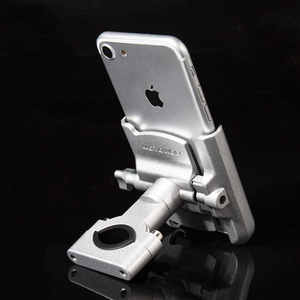 Image 5 - 360 Degree Aluminum Alloy Cycling Stand Bracket Adjustable Bike Bicycle Handlebar Mount Motorcycle Rear View Mirror Phone Holder