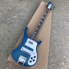 Rick 4003 modelo Ricken 4 cuerdas cuerpo de Ceniza con cuello a través de bajo eléctrico guitarra océano bluecolor envío gratis