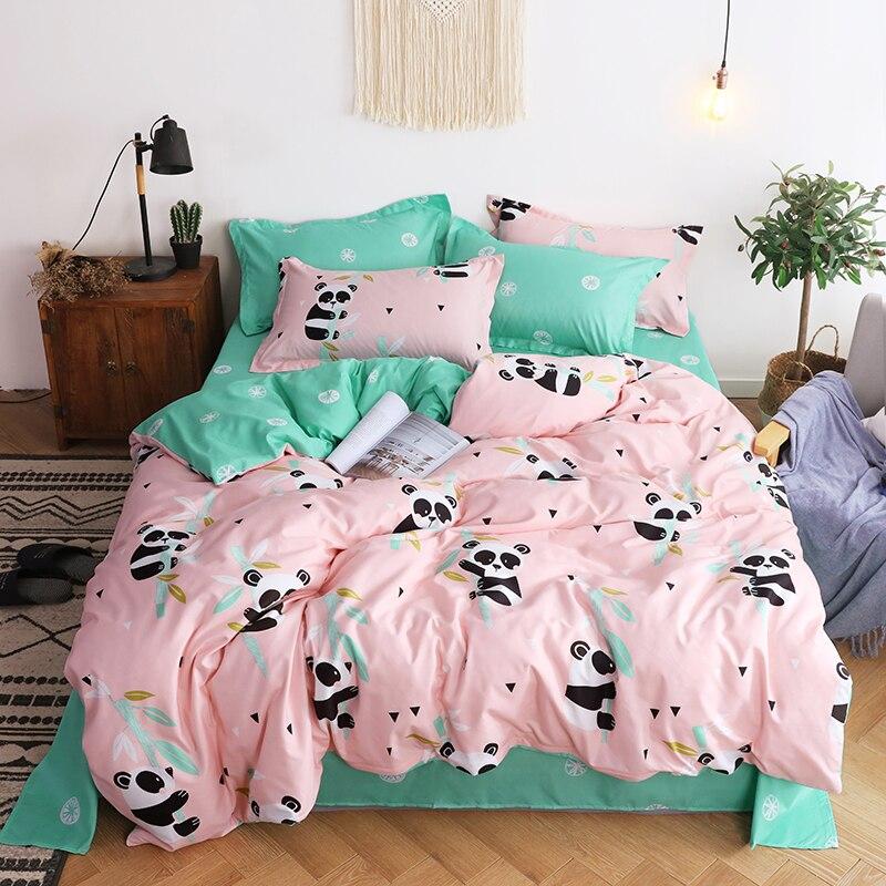 Panda Printing Bedding Set 2pcs /3pcs/4pcs Duvet Cover Set 1 Quilt Cover+1 Flat Sheet +1/2Pillowcases Twin Full Queen King