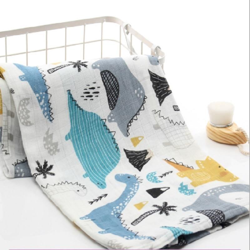 Muslin Blankets Baby Muslin Blanket Swaddle Pure Cotton Newborn Baby Bath Towel Swaddle Blanket MultiFunctions Baby Wrap 120*110