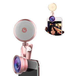 Ring-Light Led-Camera Selfie iPhone with HD Fisheye Wide-Angle Macro-Lens Flash Phone-Photography