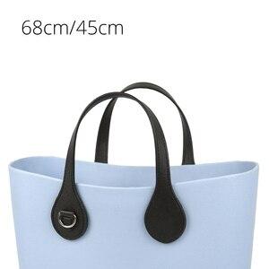 Image 1 - Tanqu Asas largas y cortas para bolso O con borde pintado, hebilla en D, manijas de piel sintética con punta en forma de lágrima redonda, para OBag, piezas para bolsos de cinturón